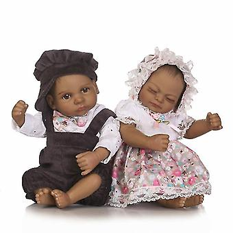 H made mini real looking newborn black girl pl-715