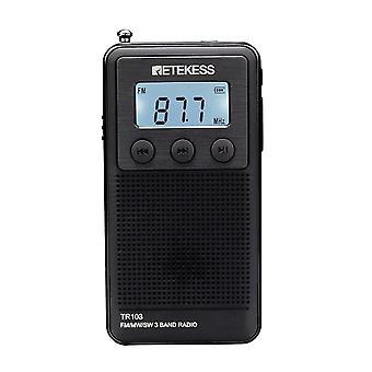 ل Retekess TR103 3Band راديو FM MW SW راديو LCD عرض SD بطاقة MP3 لاعب WS38894