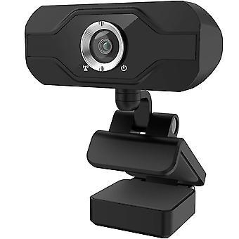 كاميرا ويب PC مع ميكروفون 1080P، والمكونات والتشغيل كاميرا ويب USB مع غطاء الخصوصية، ومناسبة لاجتماعات سطح المكتب والكمبيوتر المحمول، والتكبير، سكايب، Facetime، ويندوز، لينكس وماك (أسود)