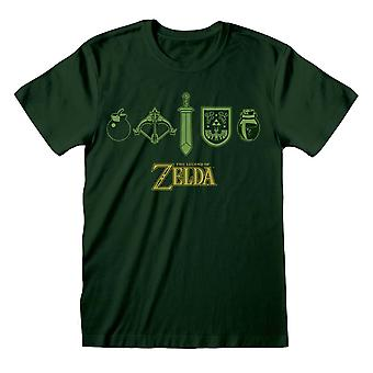 Legend Of Zelda Unisex Adult Icons T-Shirt