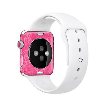 The Subtle Pink Floral Laced Full-body Skin Kit For The Apple Watch