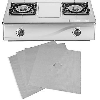 Reusable Aluminum Foil 4pcs/lot Gas Stove Protectors Cover Dishwasher Safe