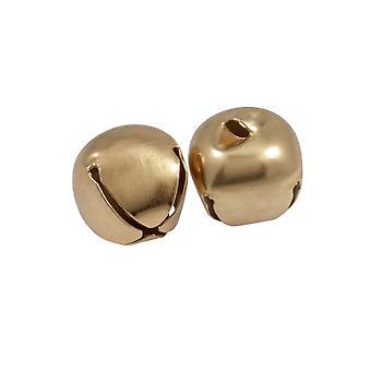 LAST FEW - 2 Gold 30mm Jingle Bells for Crafts