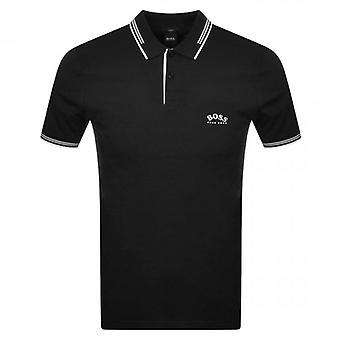 Boss Green Hugo Boss Paul Curved Logo Short Sleeve Polo Black 015 50412675