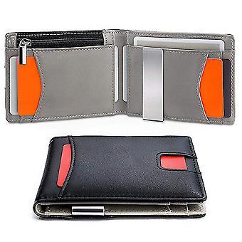 Creative RFID men's PU wallet