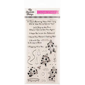 """My Favorite Things Clearly Sentimental Stamps 4""""X8"""" - Pandas At Play"""