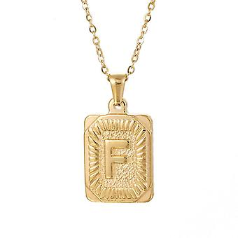 """925 Silve Initial Alphabate """"F""""Letter Necklace - 20 inch"""