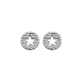 ChloBo Sparkle Star In Circle Earrings SEST3072