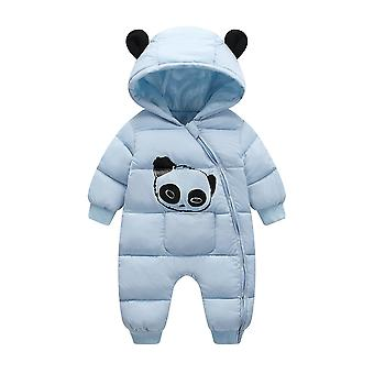 Cartoon Panda Dikke Warme Pasgeboren Baby Jumpsuit / Snowsuit Rompers Overalls
