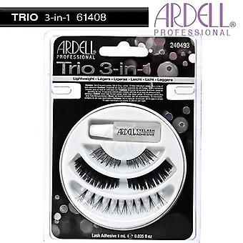 Ardell trio 3-i-1 naturlig utseende stil slående effekt Eye Lash-kolleksjon
