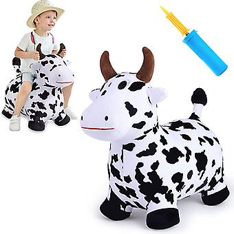 Children 18-24 Months Old Plush Inflatable Horse, Cow Vaulting Horse Toy, 2, 3, 4 And 5 Years Old