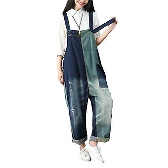 Woman Ripped Overalls Plus Size Demin Pants Jeans