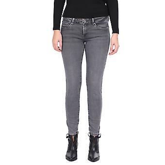Slank Passform Grå Kvinner Jeans