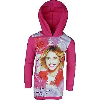 Dievčatá Disney Violetta s kapucňou tunika/šaty
