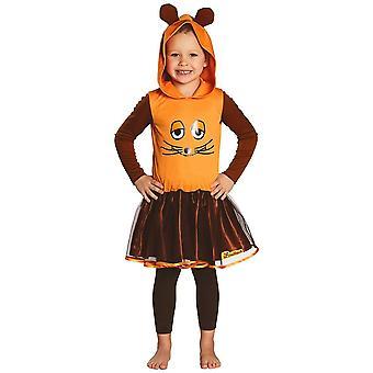 Myszy Pokaż strój sukienka z dziećmi rock myszy pomarańczowy