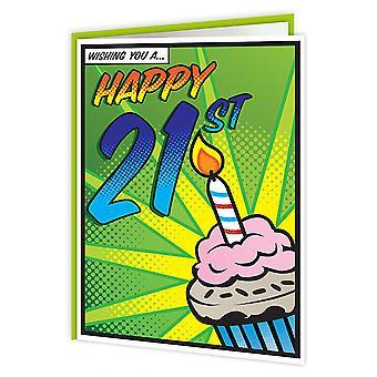 بطاقة عيد ميلاد 21 فن البوب حلوى Brainbox