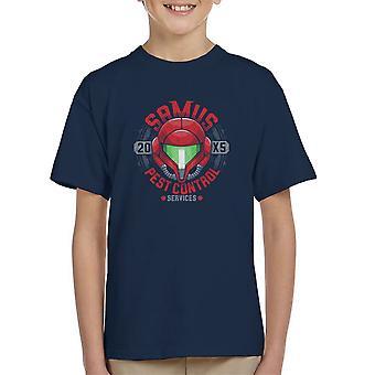 Samus Pest Control Services Metroid  Kid's T-Shirt