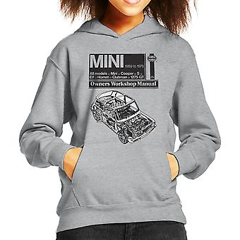 Haynes Workshop Manual Mini 1959 Black Kid's Hooded Sweatshirt
