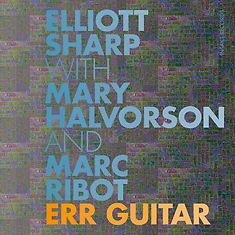 Halvorson*Mary / Ribot*Marc / Sharp*Elliott - Err Guitar [CD] USA import