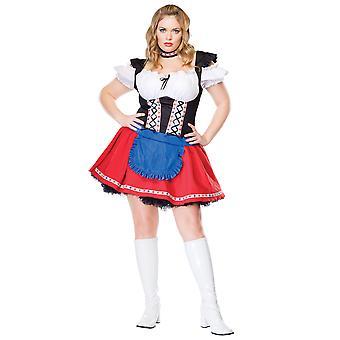 Frisky Frauline Oktoberfest zahrádka pivnice německá Heidi ženy kostým plus