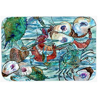 Watery Shrimp, Crabs and Oysters Kitchen or Bath Mat 20x30