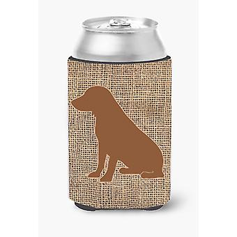 Boykin Spaniel Burlap and Brown Can or Bottle Beverage Insulator Hugger