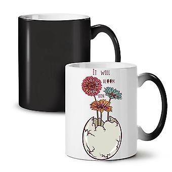 I Will Bloom Fashion NEW Black Colour Changing Tea Coffee Ceramic Mug 11 oz | Wellcoda