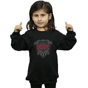 AC/DC piger sort is med rød Sweatshirt