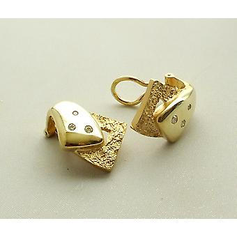 Gold Ohrclips mit Diamant