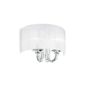 Ideal Lux Swan Chrome And Crystal Half Shade Wall Light