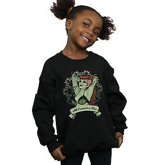 DC Comics Girls Poison Ivy All I want Is A Kiss Sweatshirt