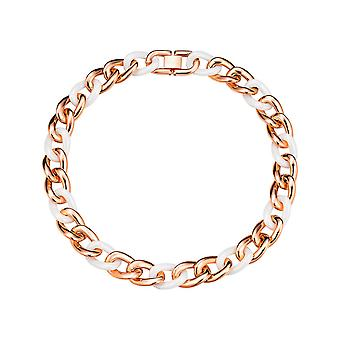 ESPRIT collection ladies chain stainless steel Rosé white CERAMIA ELNL11855C420