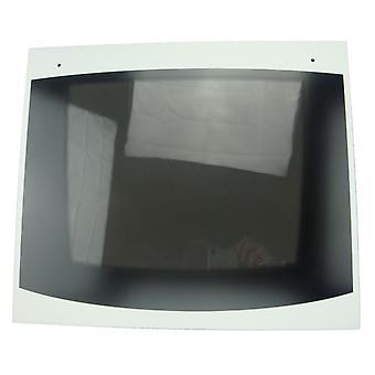 Vitre de porte de four Indesit Main avec détail blanc