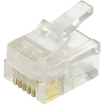 Unshielded modular plug for flat cable Plug, straight Number of pins: 6P6C 940-SP-3066 Glassy BEL Stewart Connectors 940-SP-3066 1 pc(s)