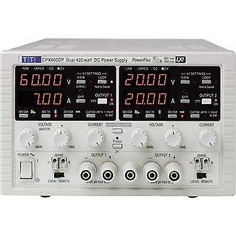 Aim TTi CPX400DP Bench PSU (adjustable voltage) 0 - 60 V DC 0 - 20 A 840 W GPIB, LAN, LXI, RS232, USB No. of outputs 2 x