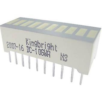 Kingbright DC-10YWA LED bargraf array 10x gul (B x H x D) 25,4 x 10,16 x 8 mm