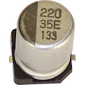تيبو VEV227M035S0ANB01K كهربائياً مكثف SMD 220 µF 35 الخامس 20% (Ø س ح) pc(s) 10 ملم × 10.2 ملم 1