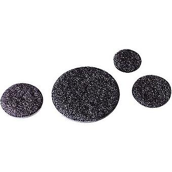 Fastech T01047999903C1 Hook-and-loop stick-on dot stick-on Loop pad (Ø) 45 mm Black 1 pc(s)