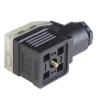 Hirschmann 934 455-100 GDME 3020 Cable Socket, Supports Electronic Inserts Black Number of pins:3 + PE