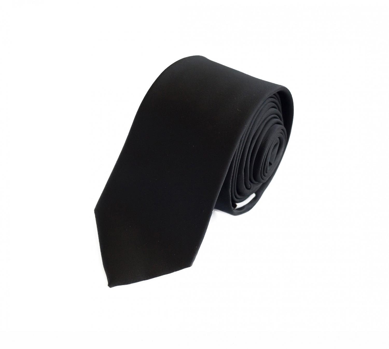 Cravatta cravatta cravatta 6cm di Nero uni Fabio Farini