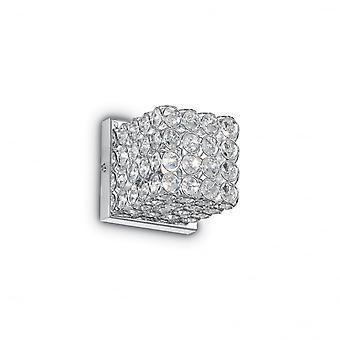 Ideal Lux Admiral traditionelle Kristall Wandwürfel Licht mit Chrom-Befestigung