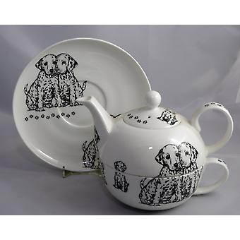 English Bone China Tea for One Dalmations