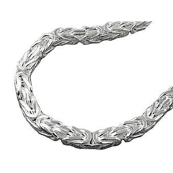 Bracelet 6mm King chaîne carré glacé argent 925 21 cm