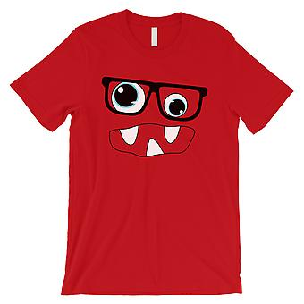 Monster With Glasses Mens Red T-Shirt