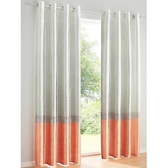 Heine Home 2 pcs Curtains Printed Decostore Silk Optic Eye Hanging
