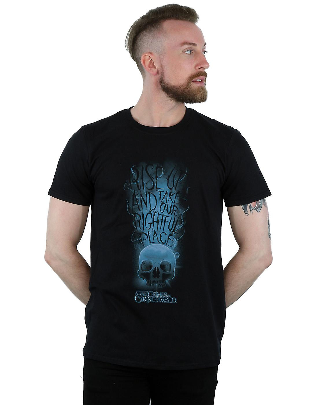 Fantastic Beasts Men's The Crimes Of Grindelwald Skull Smoke T-Shirt