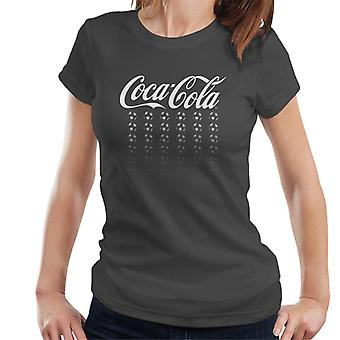 Official Coca Cola Football White Multi Balls Women's T-Shirt