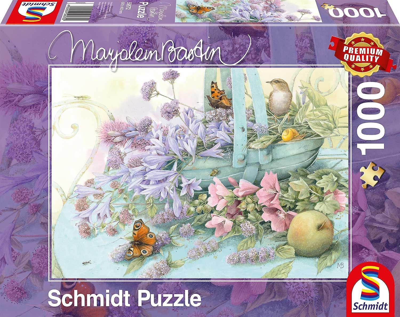 Schmidt Marjolein Bastin: Flower Basket Jigsaw Puzzle (1000 Pieces)