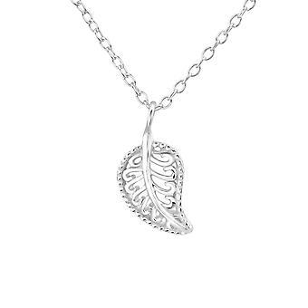 Leaf - 925 Sterling Silver Plain Necklaces - W37099x