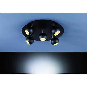 Lámpara de techo de Metal negro moderno de Matt de trío iluminación Dakota